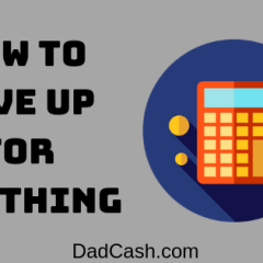 how to save up for anything