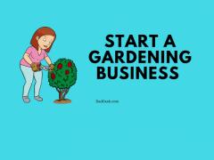 start a gardening business